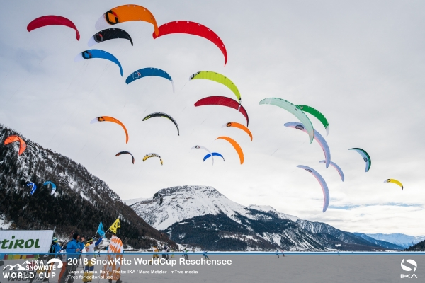 Lago di Resia provides perfect conditions for the kick-off to the 2018 IKA SnowKite WorldCup